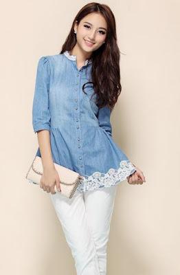 Model Atasan Casual Wanita Branded Korea