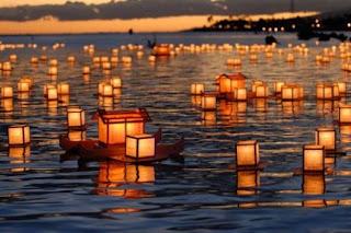 японские фонарики, обон, япония, obon japan