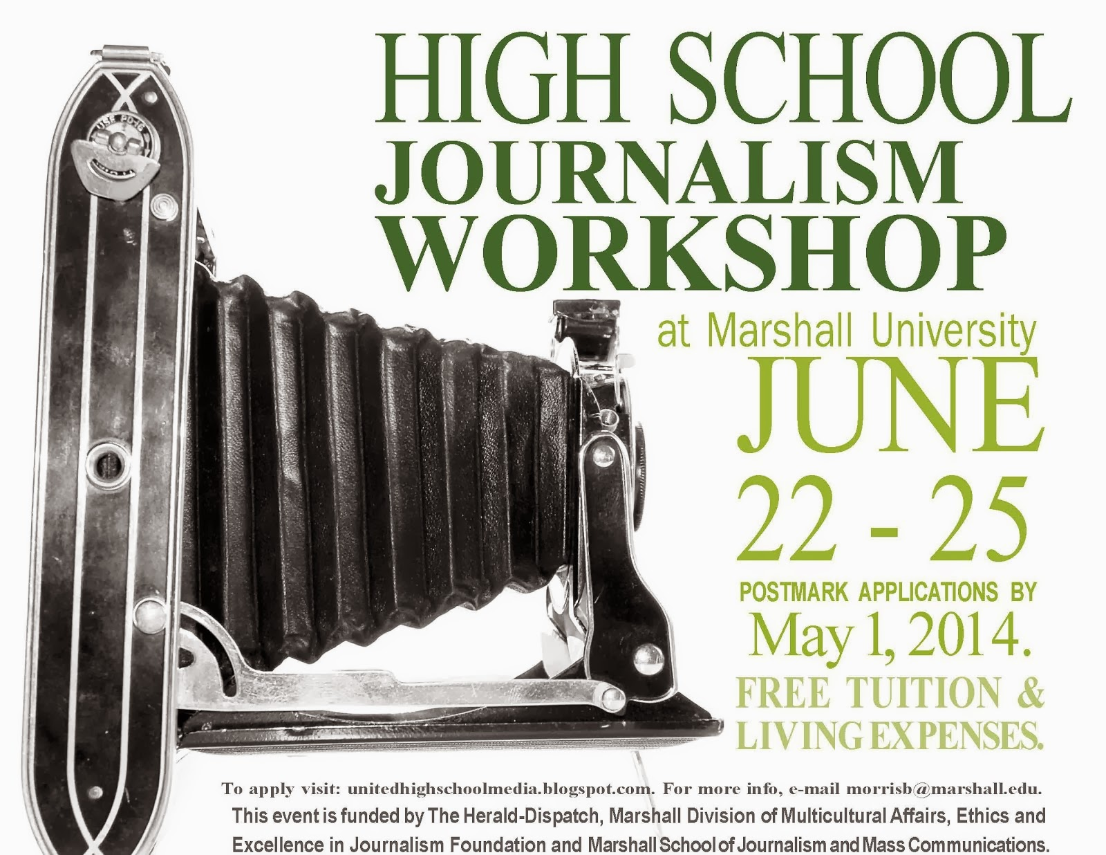 Apply now for 2014 High School Journalism Workshop