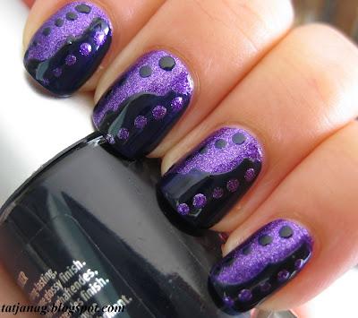 Taya: Purple Nail Art With Scotch Tape