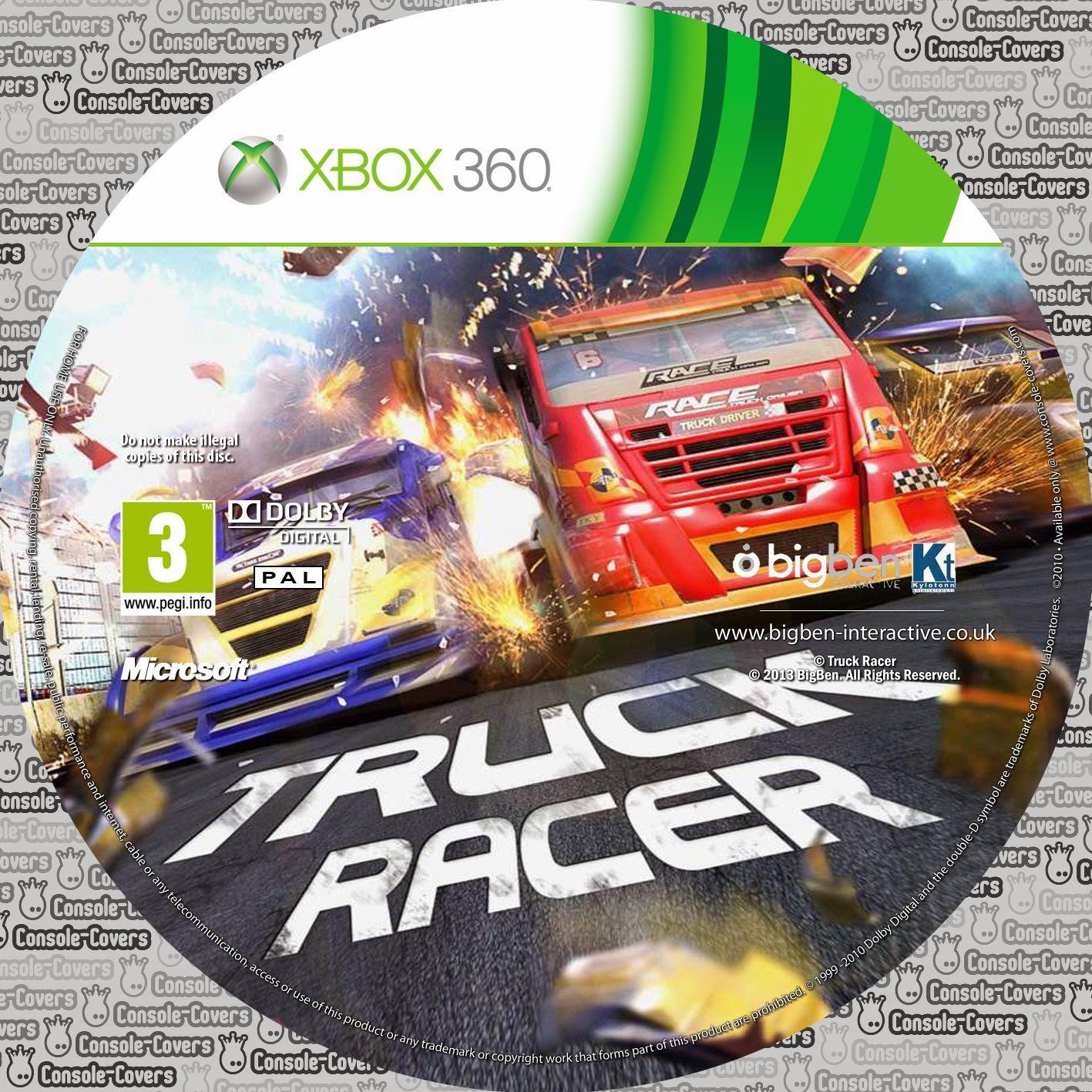 Label Truck Racer Xbox 360 ~ Gamecover | Download de capas para filmes