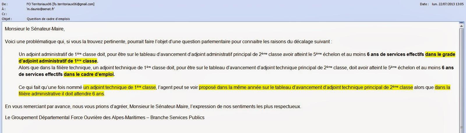 Syndicat force ouvri re des agents territoriaux des alpes - Grille indiciaire adjoint administratif 2014 ...