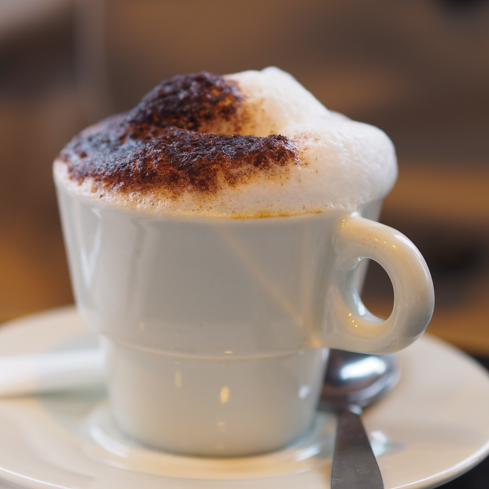 Frothy Cappuccino in mug