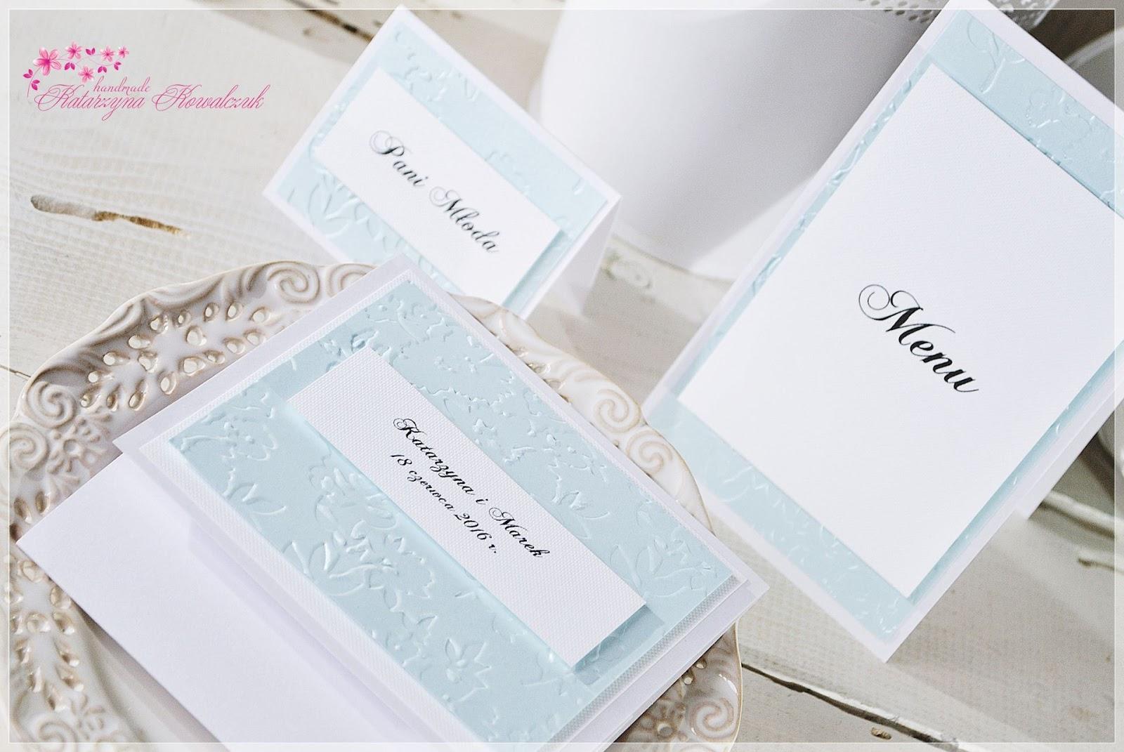 zaproszenie ślubne, winietka na stół, menu, scrapbooking