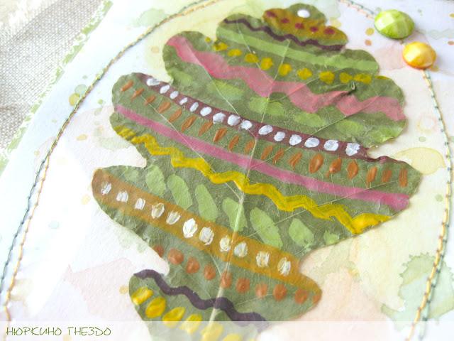 Узор на засушенном листе