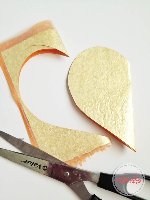 How to make a gold leaf heart notebook! Love the idea of the missing piece. So sweet! entirelyeventfulday.com #notebook #crafts/></a></div> <div class=