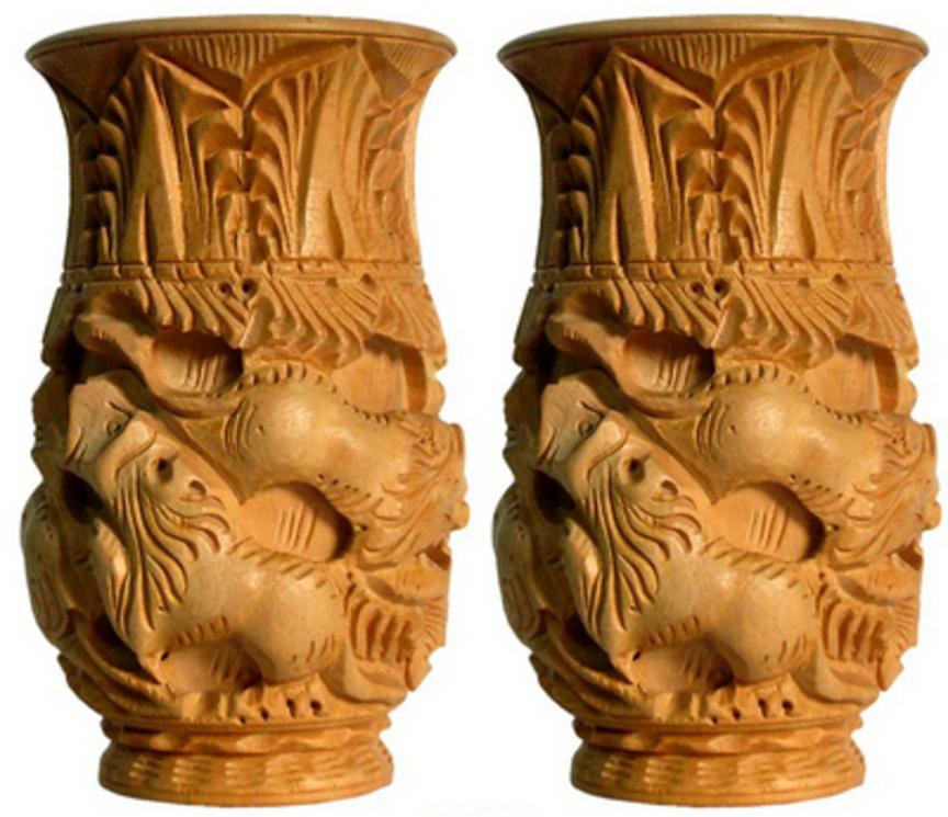 wood handicraft business wooden flower vases