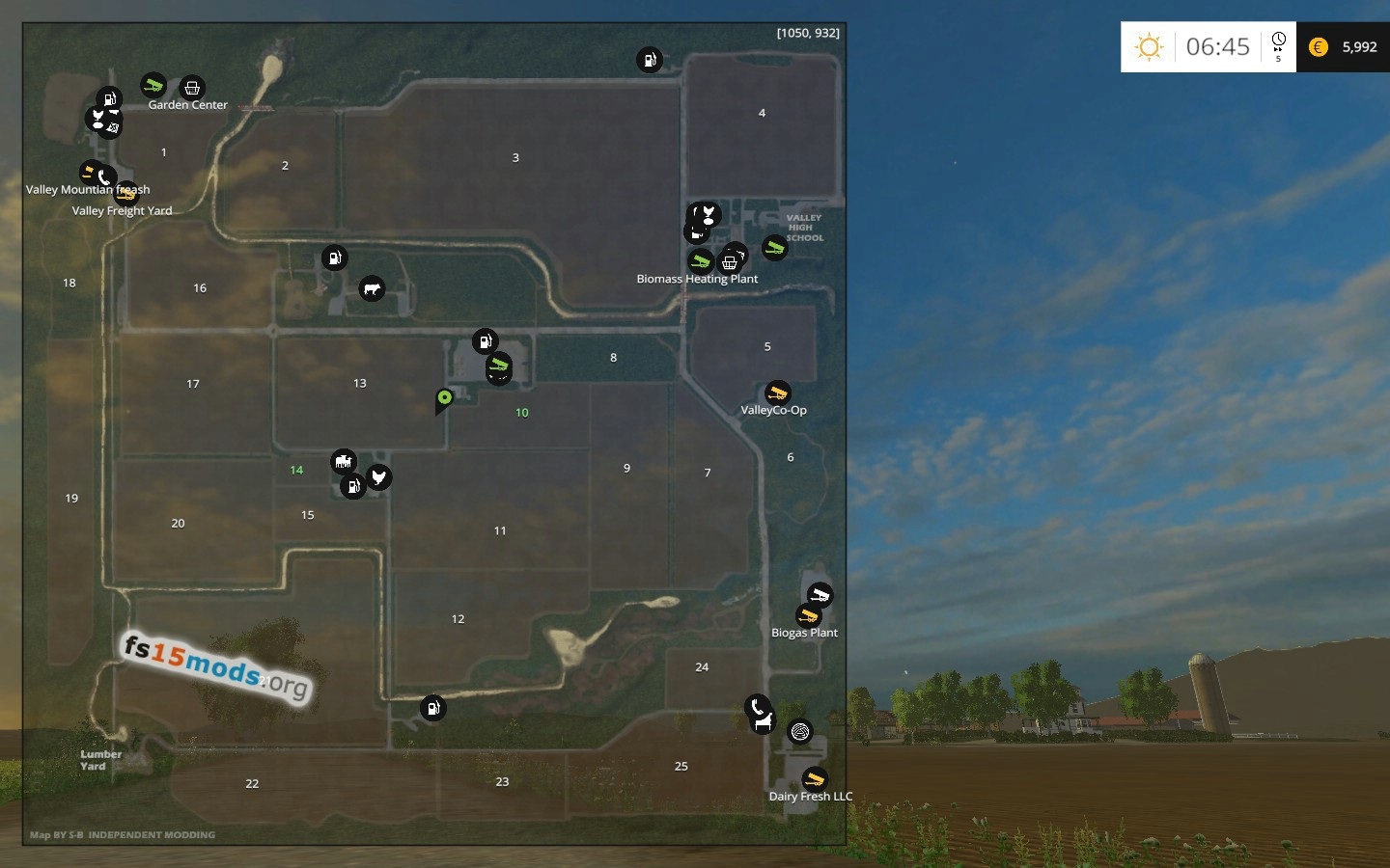 Valley East USA Map Updated FS Mods - Fs15 us maps
