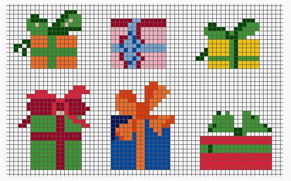 Схема вышивки крестом на подарок 187