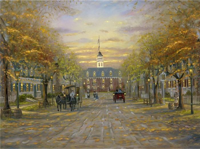 Романтические городские пейзажи