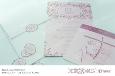 Gambar Kad Kahwin Diana Danielle dan Farid Kamil
