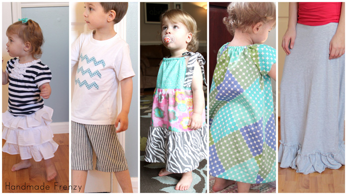 Ruffle Skirt - MADE Tutorial, Kid Shorts - MADE Tutorial, 3 Tiered Pillowcase Dress, Peasant Dress, Maxi Skirt - A Small Snippet Tutorial