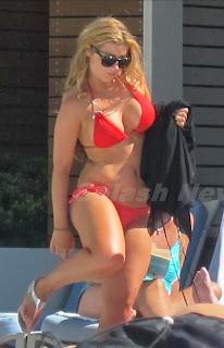 Abigail Clarke Red Bikini Las Vegas