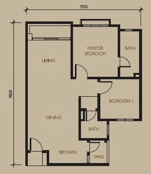 Floor plan feng shui barrington square type a for Good feng shui house floor plan