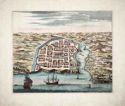 Mapa antiguo Santo Domingo, República Dominicana