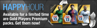 FUT 13 Happy Hour / Day - 25k Gold Players Premium Packs available until 11.59pm UK (May 25th 2013)
