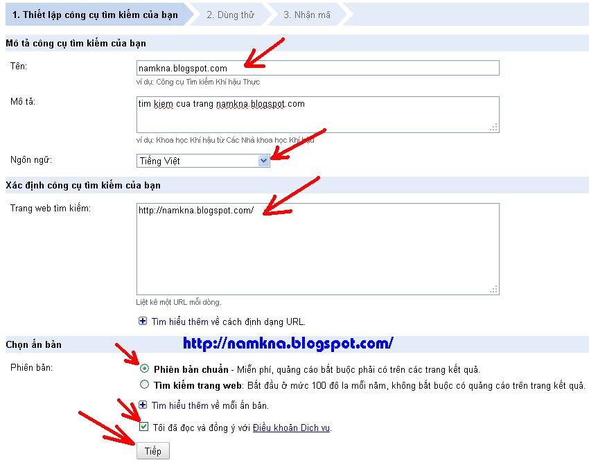 Tạo công cụ tìm kiếm cho Blog - Hiện kết quả tìm kiếm tại Static Page cho Blogspot
