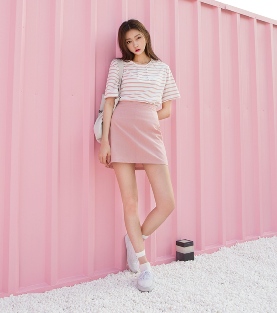 Korean daily fashion official korean fashion Pink fashion and style pink dress