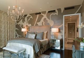 habitación matrimonial gris plata