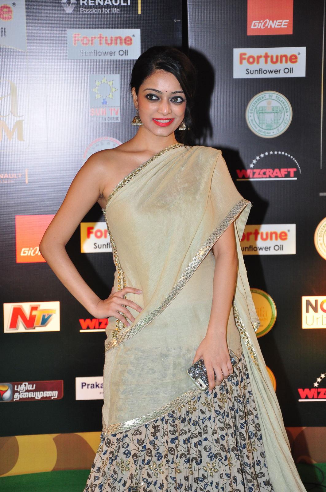 janani iyer glamorous in saree-HQ-Photo-9