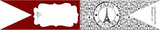 kit paris preto e vermelho imprimir grátis
