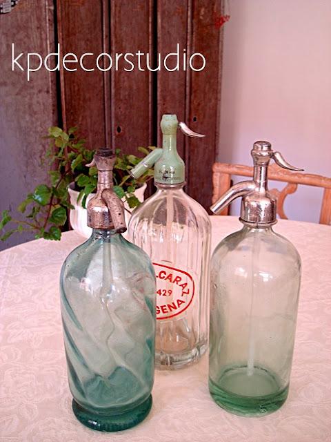 Comprar sifones antiguos en botella de cristal