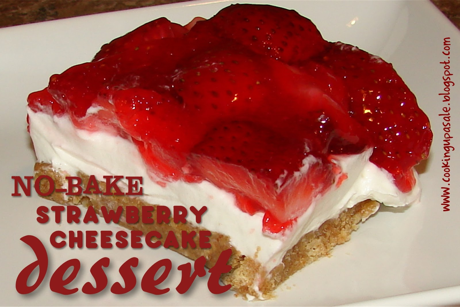 Jello No Bake Strawberry Cheesecake No-bake strawberry cheesecake