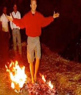 Firewalking Across Hot Coals Fact or Fiction Michael Shermer Attempts ...