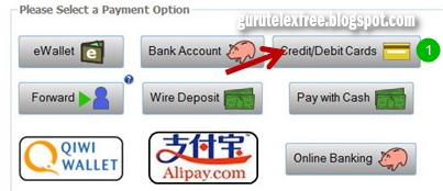 Cara deposit dengan kartu kredit