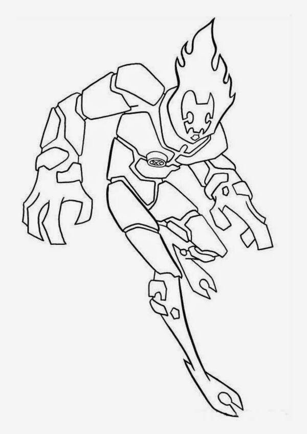 For Kids Ben 10 Coloring Pages  Free Coloring Sheet  New