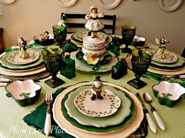 St Patrick's Day tablescape