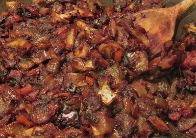 caramelized vegetables
