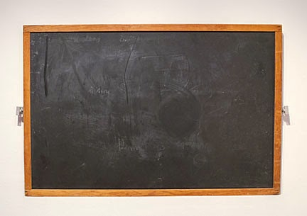 erased blackboard