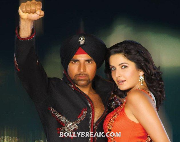 Old akshay and young katrina kaif - (3) - Old  heros and young heroines- Rowdy Rathore to gadar