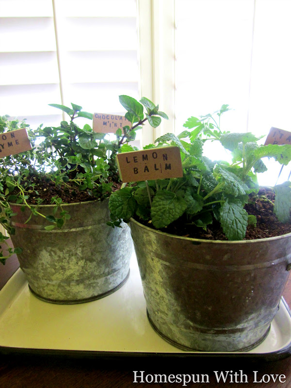 Homespun With Love Kitchen Herb Garden