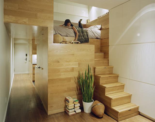 Reforma de un peque o apartamento en nueva york espacios Apartamentos con altillo