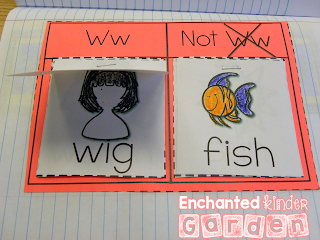 This is a photograph of a letters activity in an interactive notebook for kindergarten.