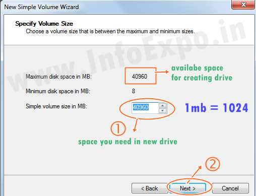 www.infoexpo.in --Create a new drive in windows