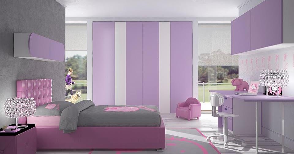 Habitaciones con estilo habitaci n para adolescente color lila - Colores para las habitaciones ...