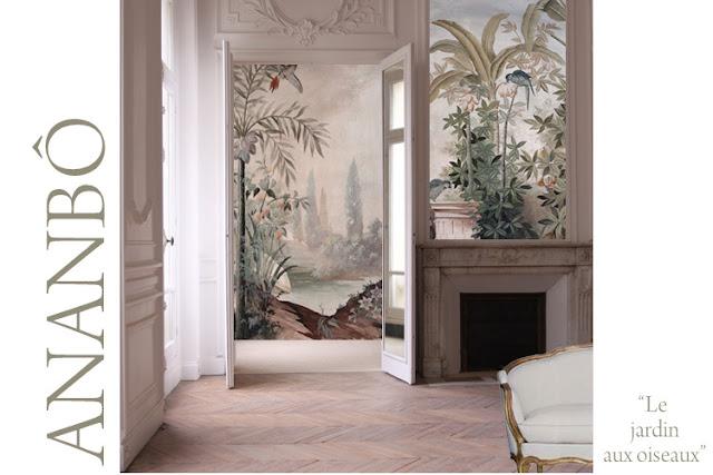ananb le jardin aux oiseaux un d cor dans le style de bergl en 5 l s de 70cm. Black Bedroom Furniture Sets. Home Design Ideas