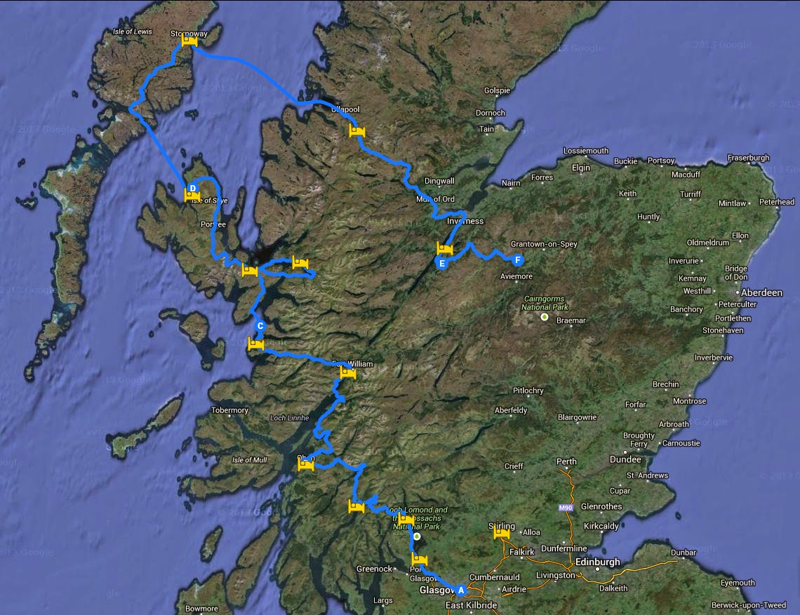 Enlace al mapa detallado de mi viaje por escocia
