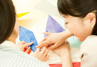 NAMC montessori classroom activities golden week japan culture study community service folding cranes