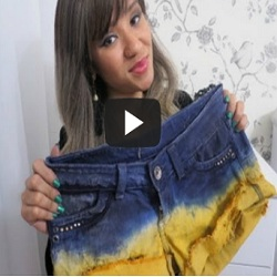 Shorts tie dye: Como personalizar seu jeans; assista