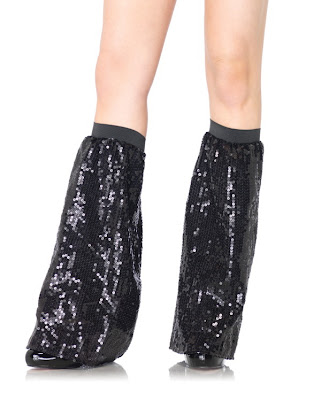 Black Sequin Legwarmers