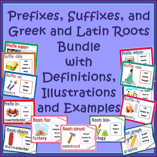 CCSS Prefixes, Suffixes, Greek Roots and Latin Roots - Super Bundle