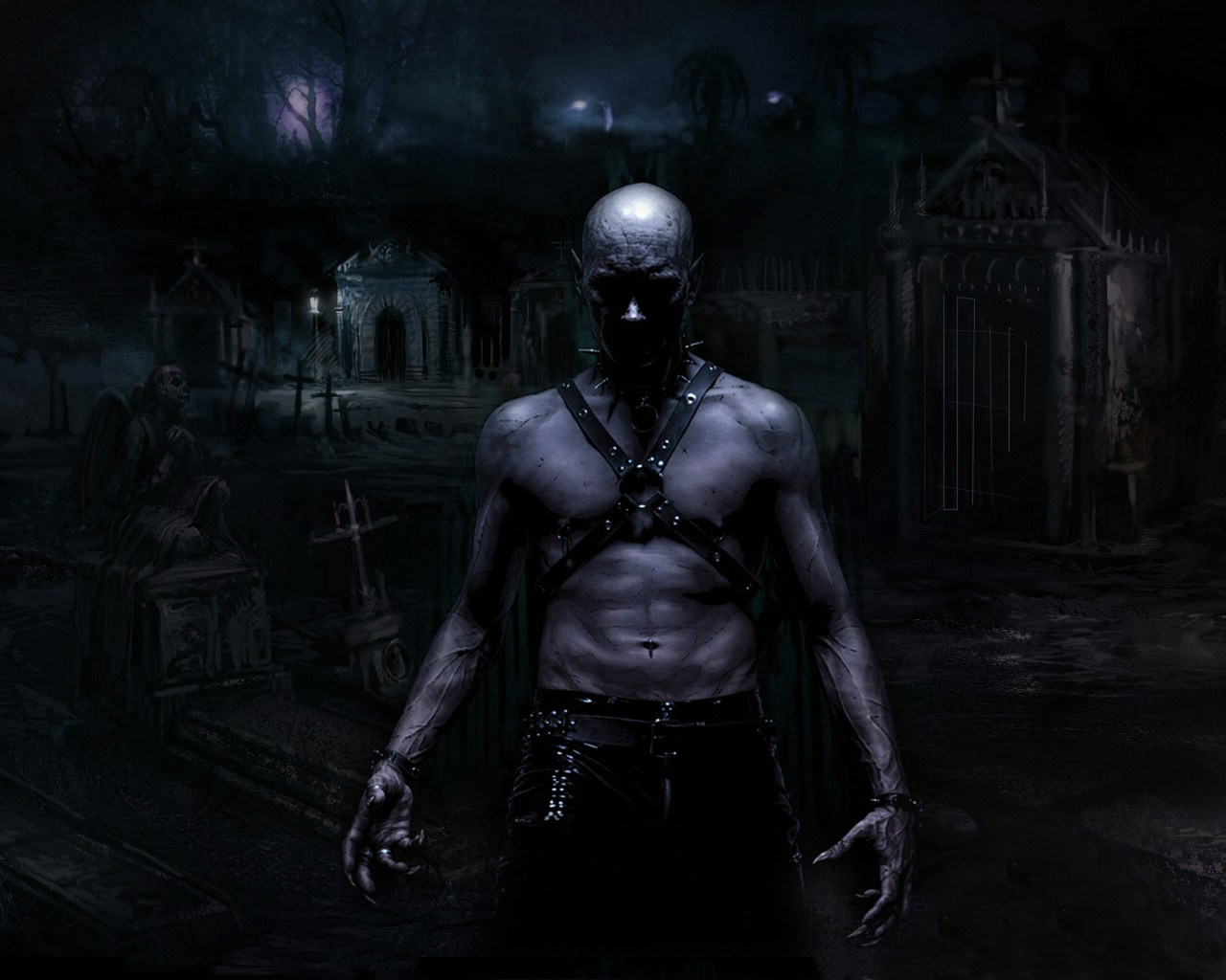 I Will Kill You Dark Gothic Wallpaper