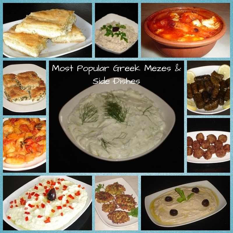 Recipes for Greek Mezes and Side Dishes