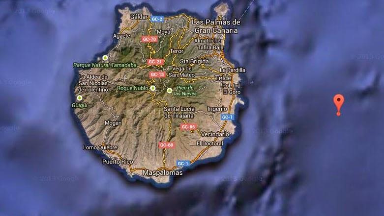 nuevo terremoto cerca gran canaria