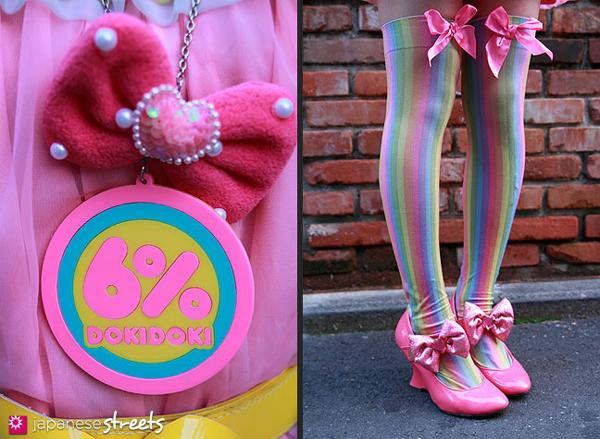 6% dokidoki shop stuff like shoes and logo