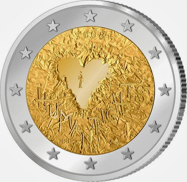 2 euro Finland 2008, Universal Declaration of Human Rights